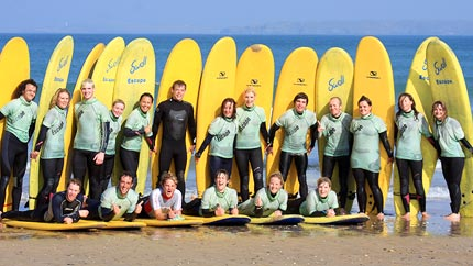 group surf lessons newquay