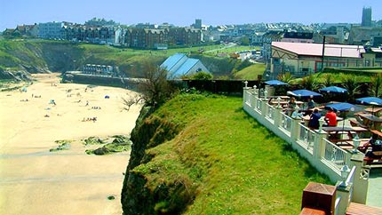 belushis newquay view from terrace