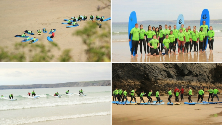 Surf Lessons for Schools and College Groups