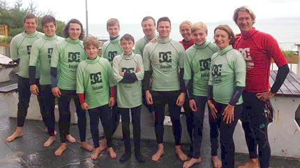 family group surf lessons newquay