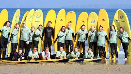 surf club surf lessons newquay